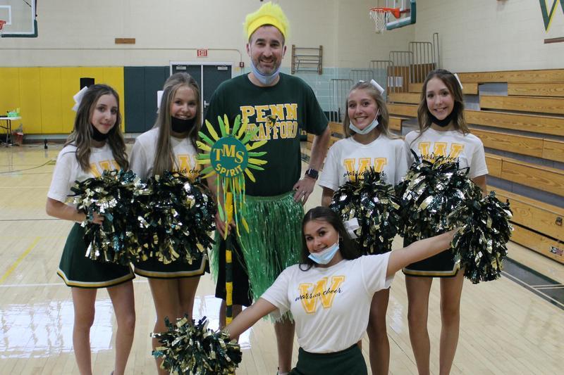 cheerleaders at Trafford Middle School