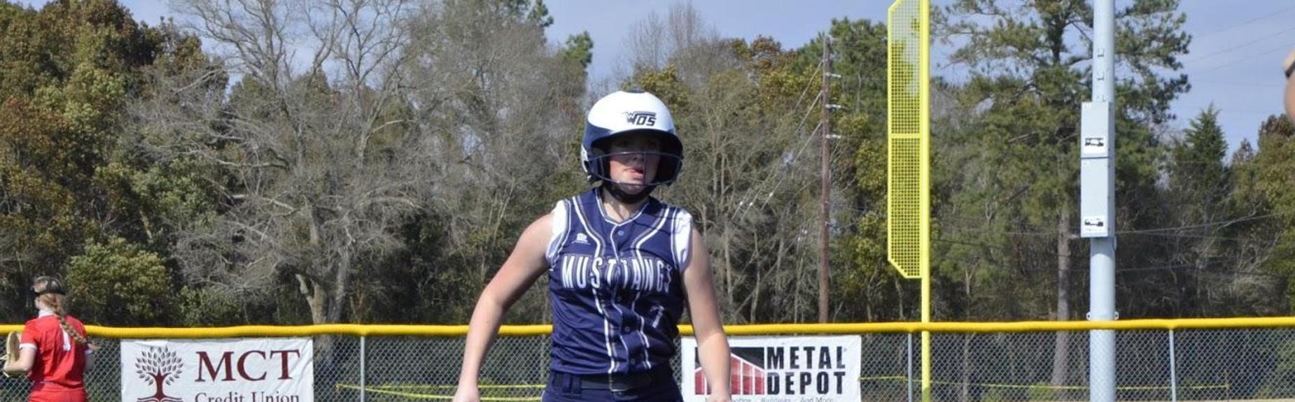 Girls Softball runner