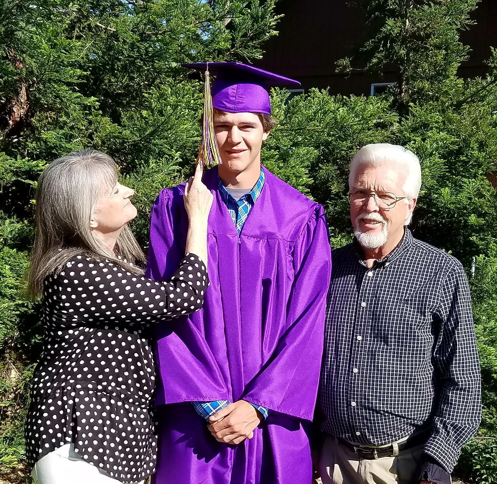 Grandparents with graduate