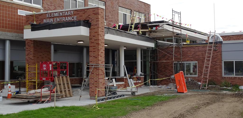 This is an October 2019 snapshot of the construction site that will soon become the expanded and re-constructed main pedestrian entrance at Beekmantown Elementary School