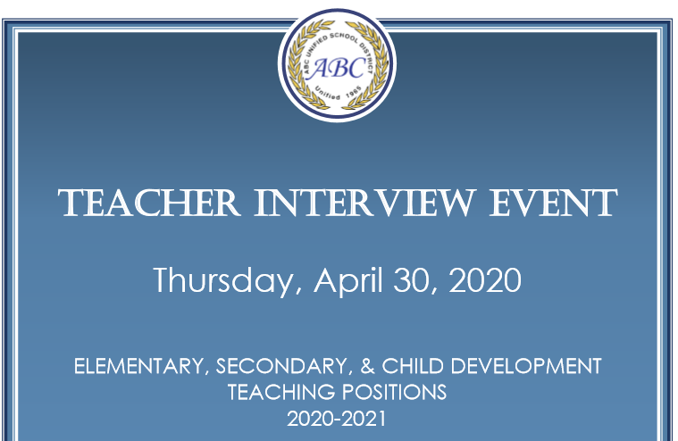 teacher interview flyer