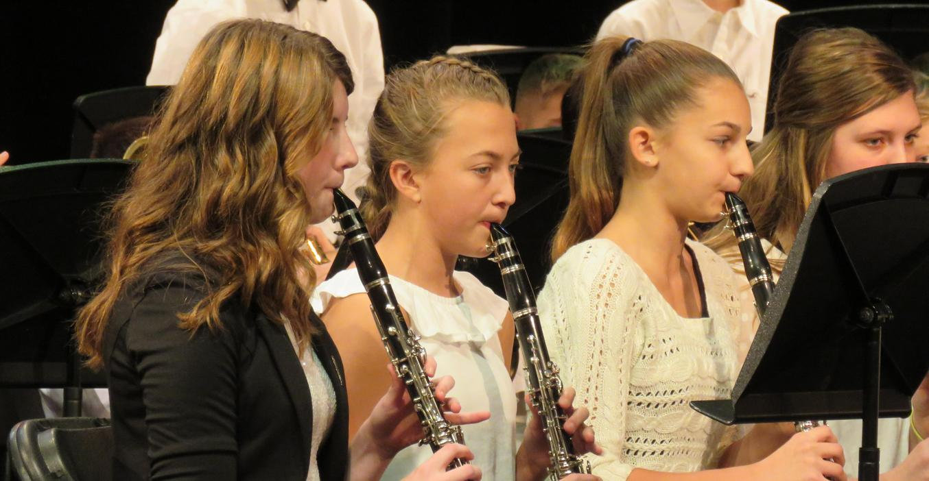 TKMS students perform a winter band concert.