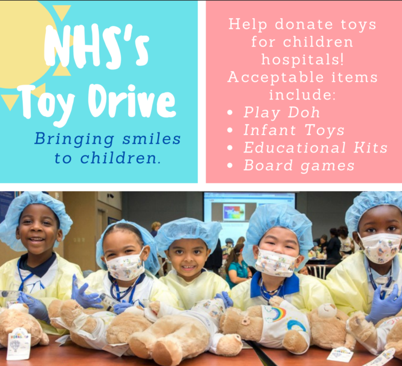 NHS Toy Drive 2020! Featured Photo
