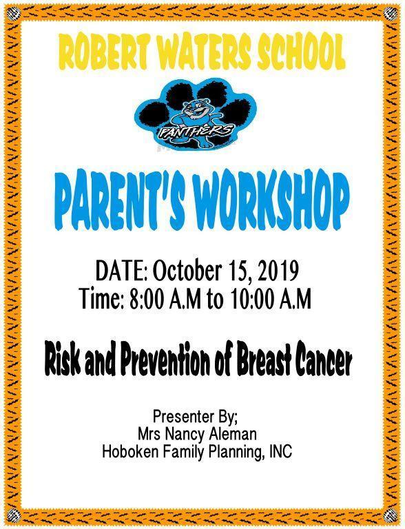 Risks of Breast Cancer Awareness Flyer