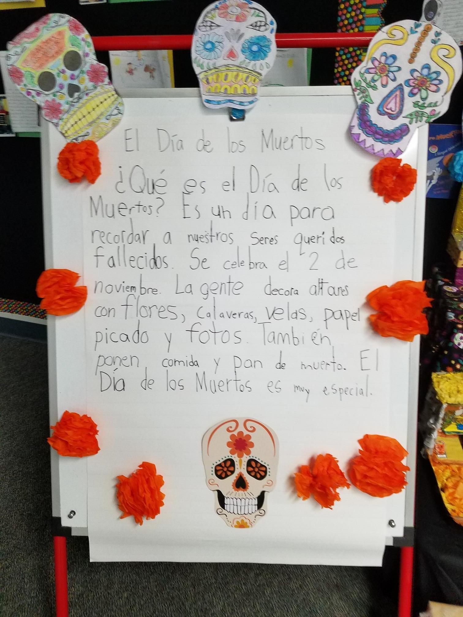 Writing about Dia de los Muertos