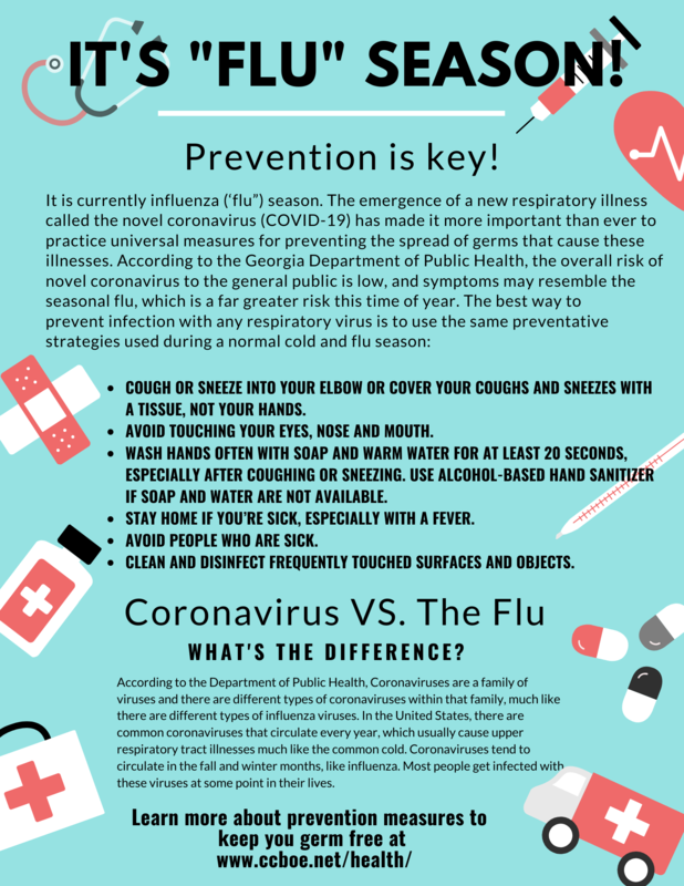 Flu and Illness Prevention Flyer