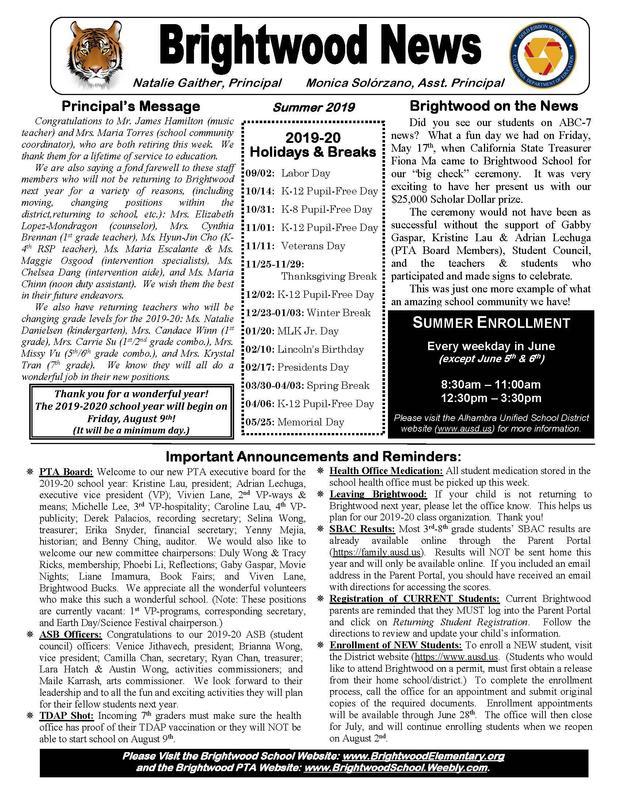Brightwood Summer Newsletter Featured Photo