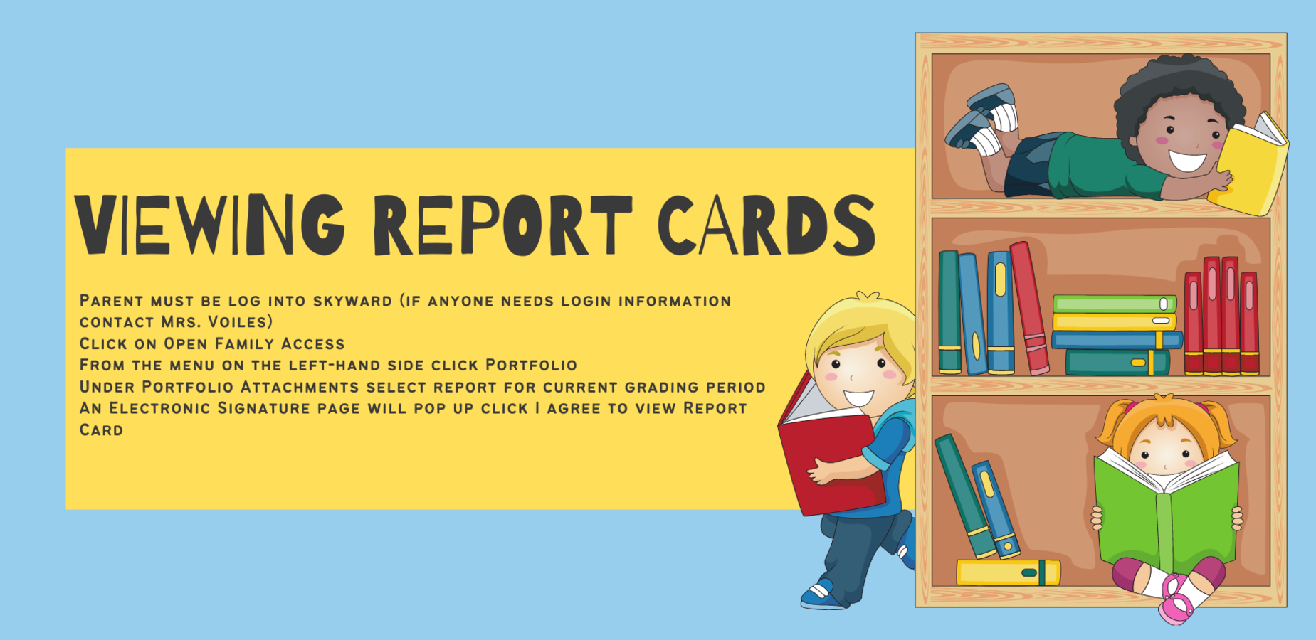 Directions to View Report cards