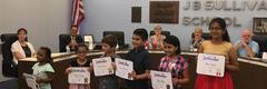 Corey Students receive literacy award