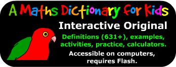 Logo for Math Dictionary