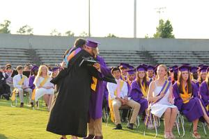 "Principal Sonya Bryant presents the ""Heart of the Panther"" award to James Eidson during B-L High School's 99th Commencement Ceremony on Friday, May 31st."