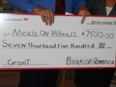 Meals on Wheels donation check