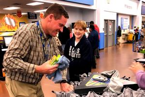FMS Principal and student shopping