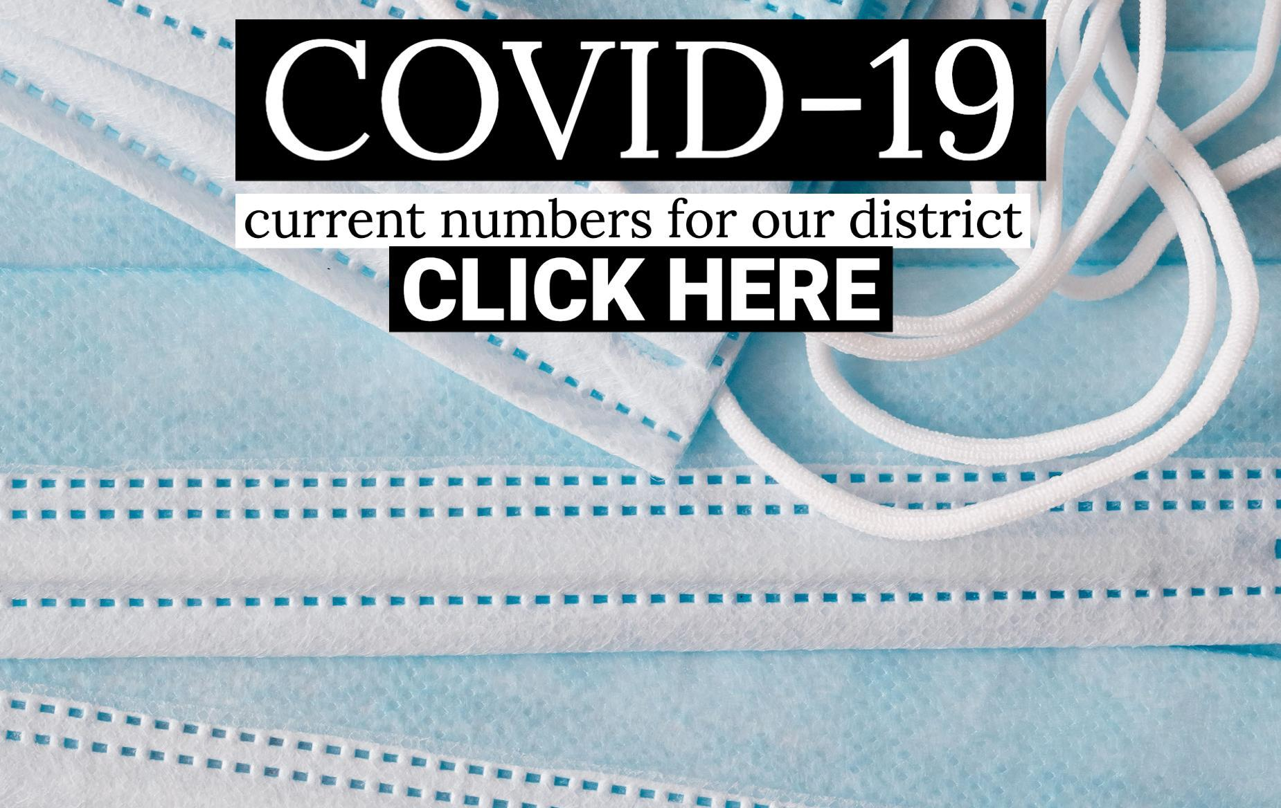COVID 19 numbers for our district