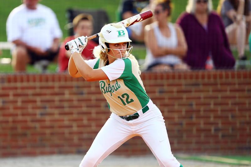 Softball player action shot.