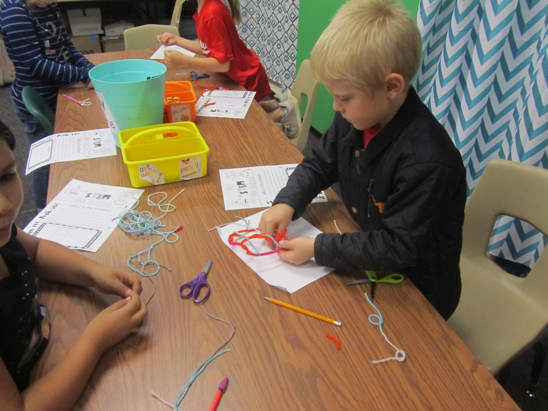 STEM Challenge--Build a spider web that holds bugs
