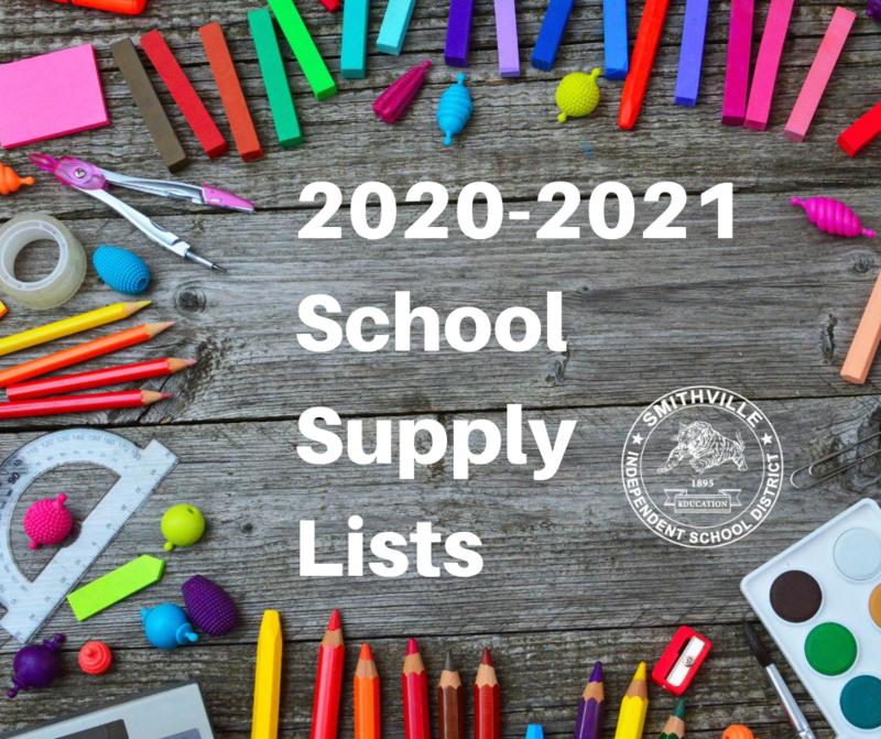 School Supply Lists 20-21