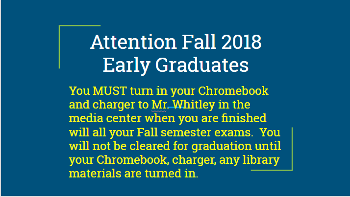 Attention Fall 2018 Early Graduates!!! Featured Photo