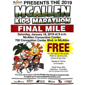 McAllen Kids Marathon Final Mile January 19, 2019