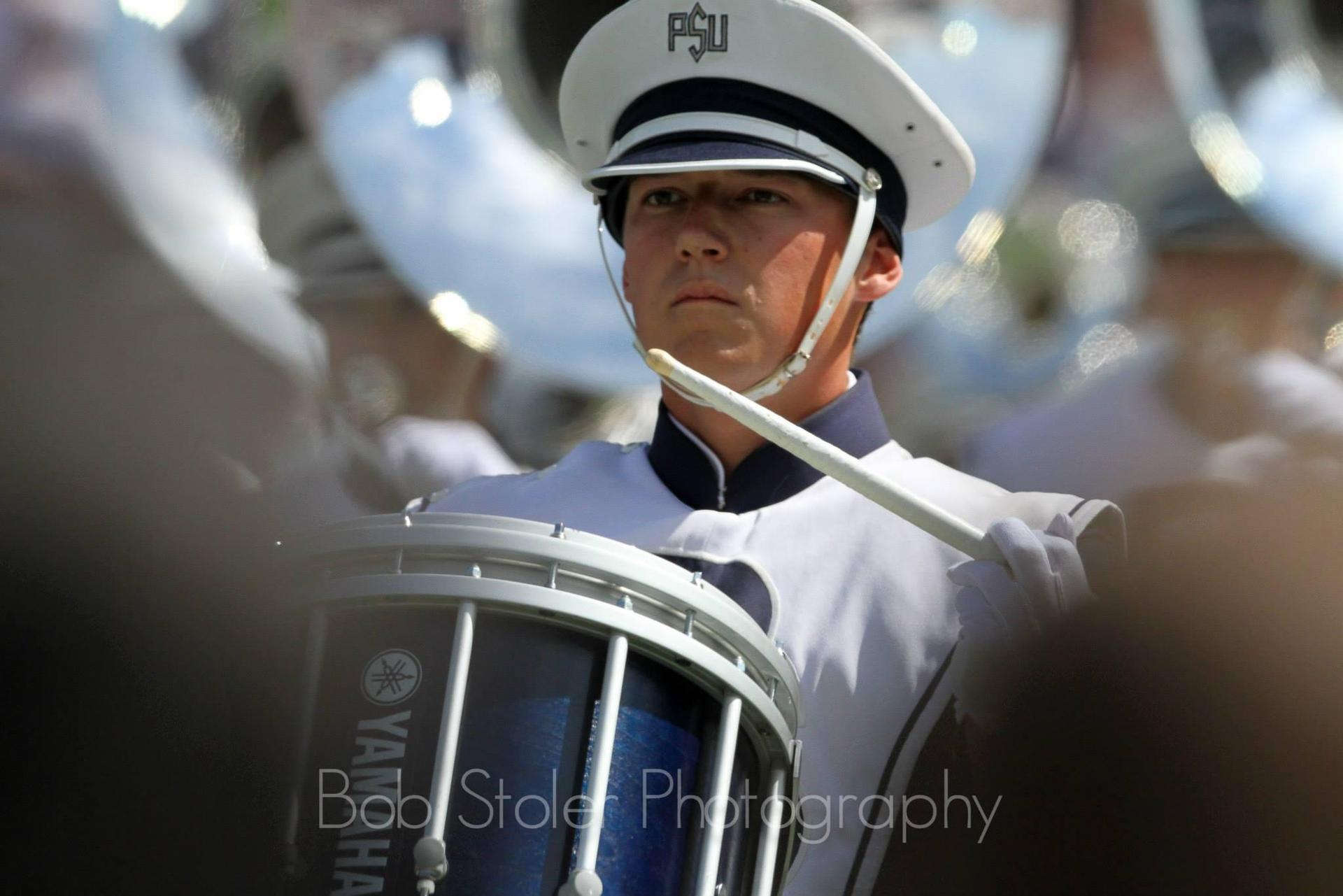 Ryan Carty in the Penn State Blue Band