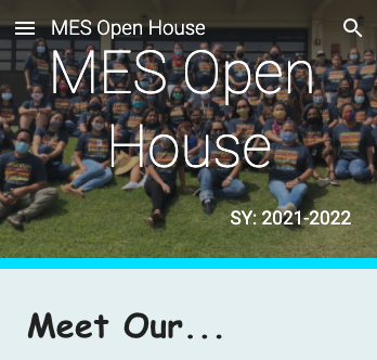 MES Virtual Open House! Featured Photo