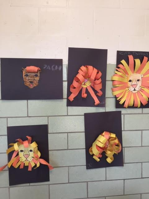 Art of lions by elementary students