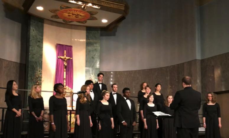PCS Choir at the Grotto