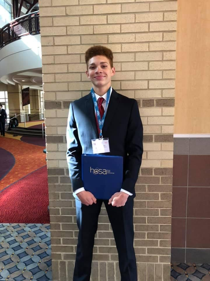 Tristian Whitaker places in HOSA Competition.