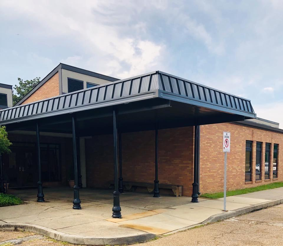 St. Francis awning