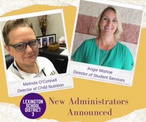 Lexington Three Announces New Administrators