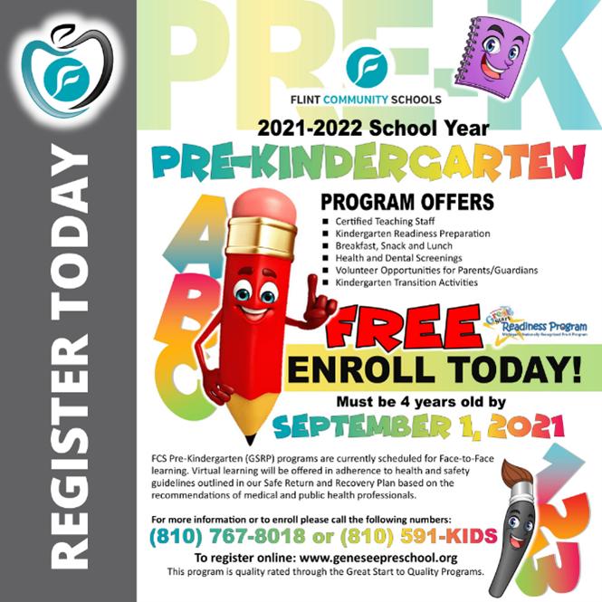 Great Start Readiness Program flyer