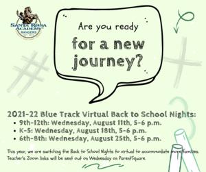 Virtual Back to School Nights
