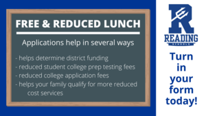Free and Reduced Lunch applications help in several ways, including helping determine district funding, reducing student college prep testing fees, reducing college application fees, and helping your family qualify for more reduced cost services