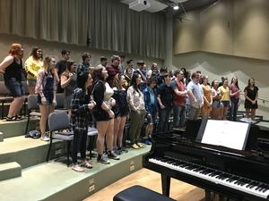 Knoch choir practicing in Nashville