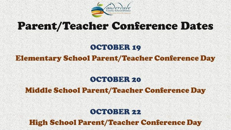 Parent/Teacher Conference Dates