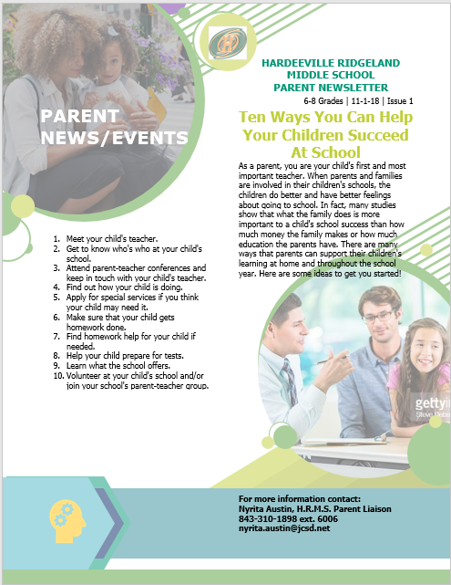 Parenting newsletter