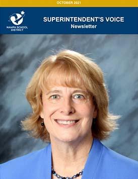 Paula Kellerer headshot under a Superintendent's Voice banner
