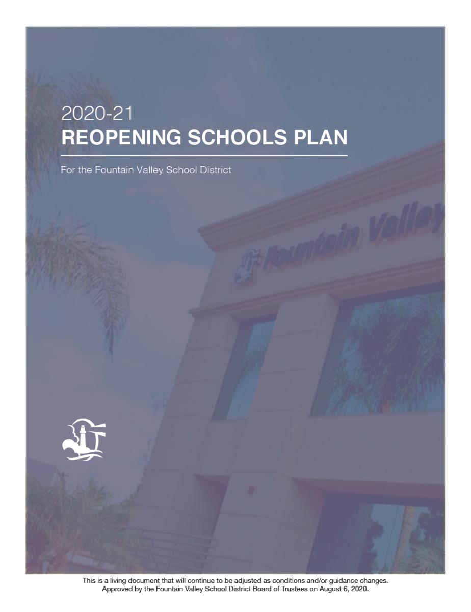 FVSD 2020-21 Reopening Schools Plan