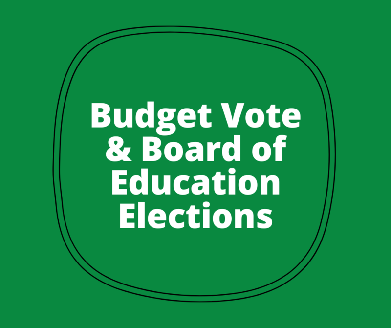 BOE Elections text with green background