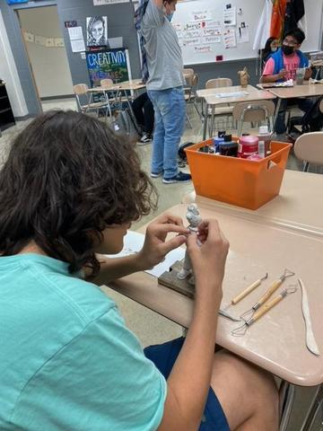 LAMS Students Making Claymation Figures