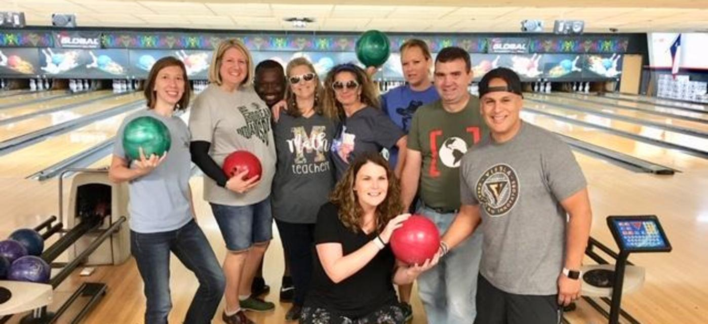 staff bowling party