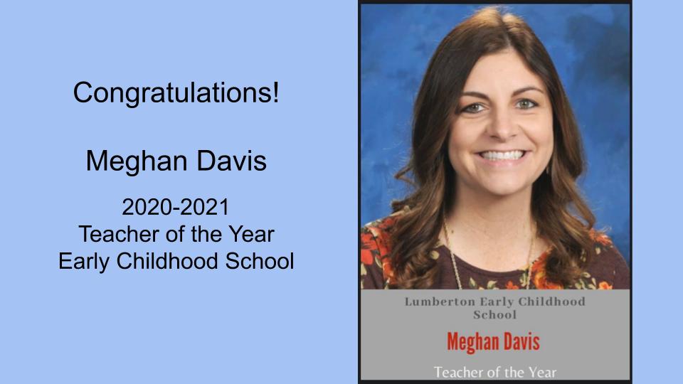 Meghan Davis LEC Teacher of the Year