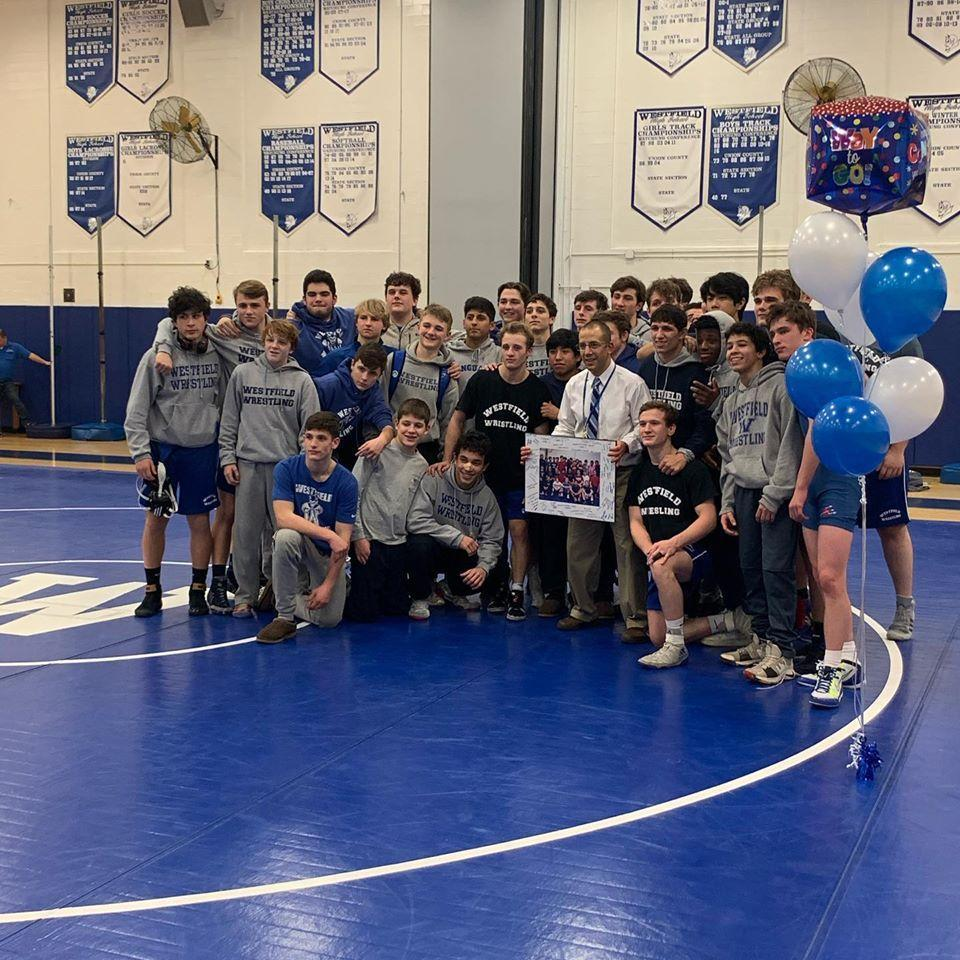 Blue Devil Wrestling Coach Glen Kurz moved into 1st place with the most wins (240) of any Westfield High School Wrestling coach. Kurz passed legend Gary Kehler who previously held the mark with 239 career wrestling coaching victories.