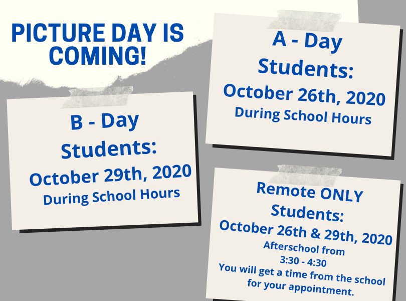 Picture Day Schedule