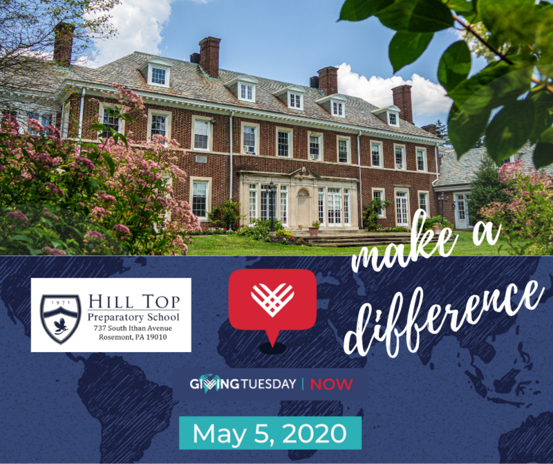 Hill Top Prep is participating in #GivingTuesdayNow on May 5th Featured Photo