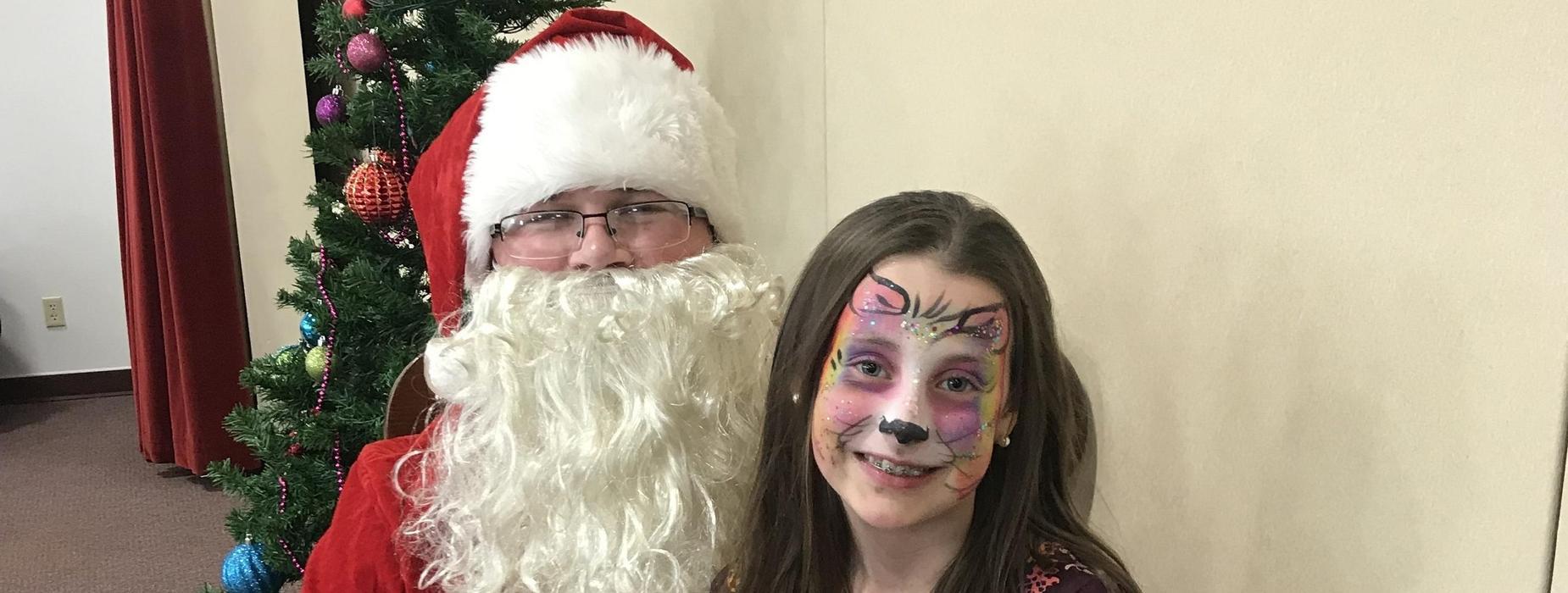 Santa Visits the school