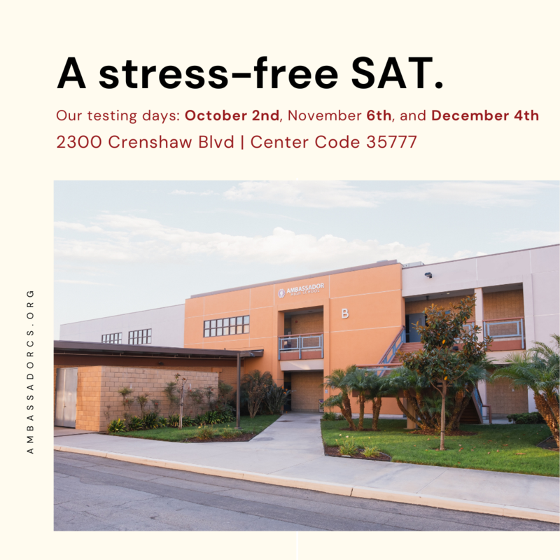 Ambassador becomes a College Board SAT testing site Featured Photo