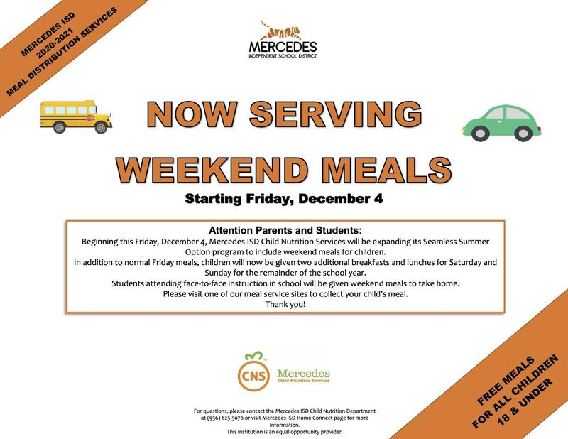 MISD Child Nutrition Now Serving Weekend Meals Featured Photo