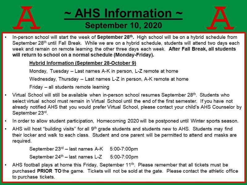Sept. 2020 information