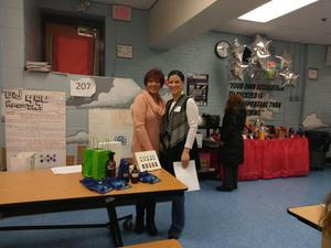 parent liaison Barbara Martinez and Nancy Aleman